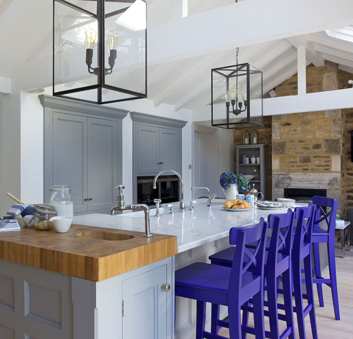 kitchen islands with color