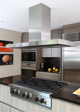 Modern Kitchen Design with Stainless Appliances