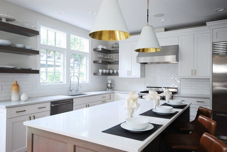 White Kitchen with Quartz Countertop