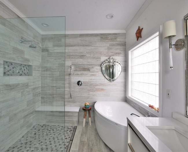 shower tub arrangements contemporary